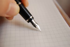 fountain pen, ink, pen
